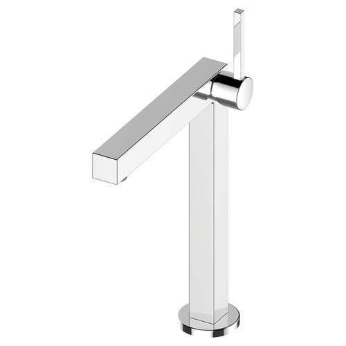 misturador monocomando para lavatório / em metal cromado / 1 orifício / modelo alto