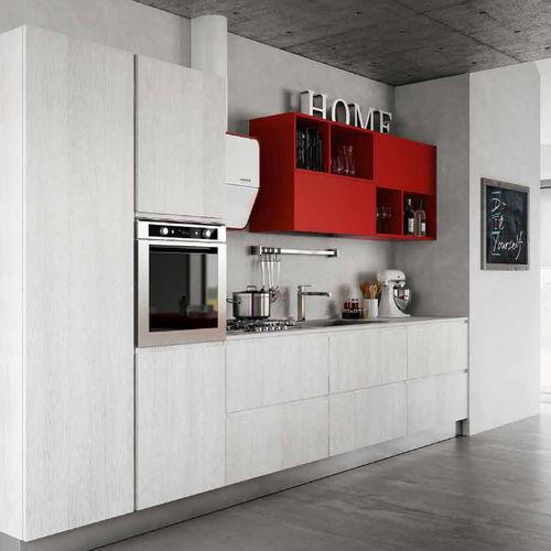 cozinha contemporânea / em melamina / sem puxadores