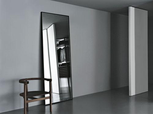 espelho de parede / contemporâneo / retangular / metálico