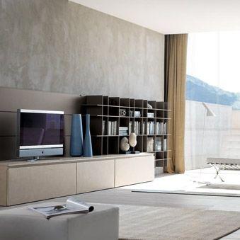 rack de TV contemporâneo / em madeira