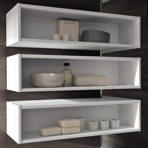 estante de parede / contemporânea / em madeira / para banheiro