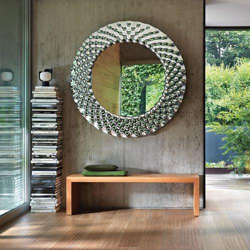 espelho de parede / contemporâneo / retangular / redondo