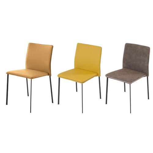 cadeira contemporânea / estofada / empilhável / com capa removível