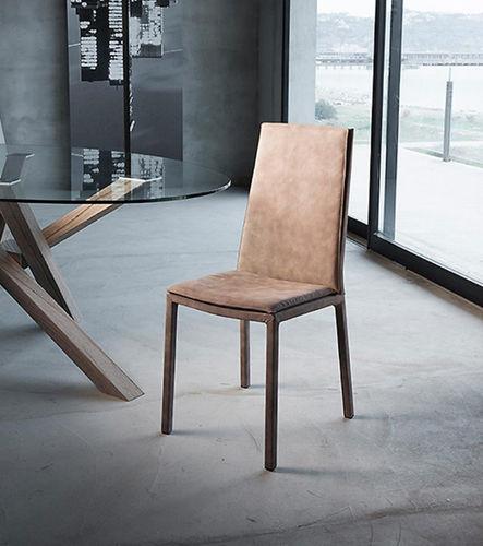 cadeira contemporânea / estofada / em tecido / em aço