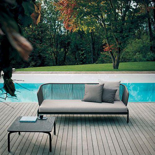 sofá contemporâneo / de jardim / para iate / para pátio
