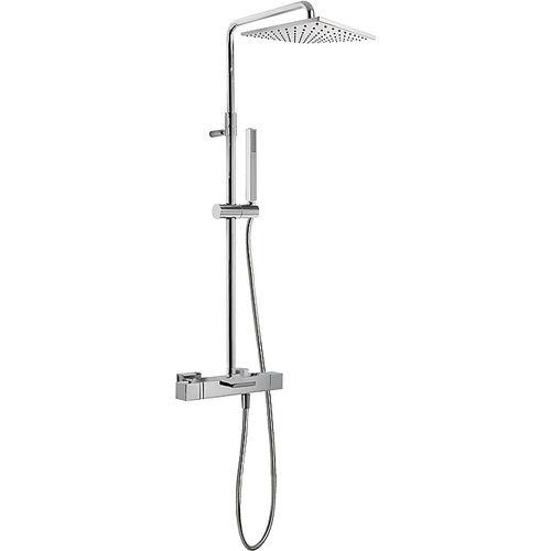 conjunto de chuveiro de parede / contemporâneo / com chuveiro de mão / termostático