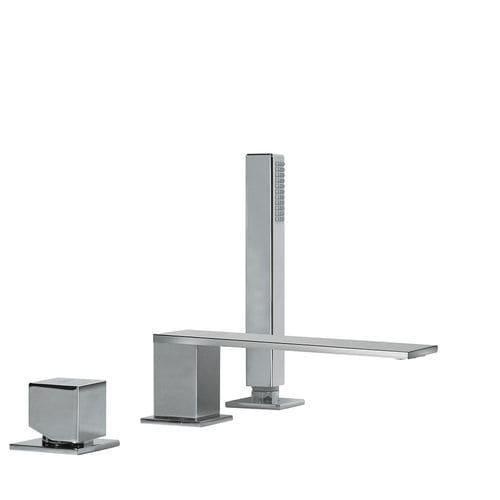misturador monocomando para box de banheiro / para banheira / de bancada / em metal cromado