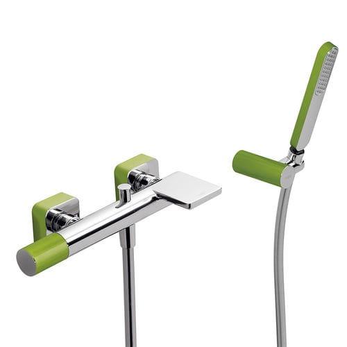 misturador monocomando para box de banheiro / para banheira / de parede / metálico