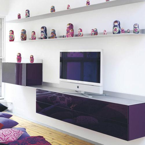 móvel de parede para TV contemporâneo / em alumínio