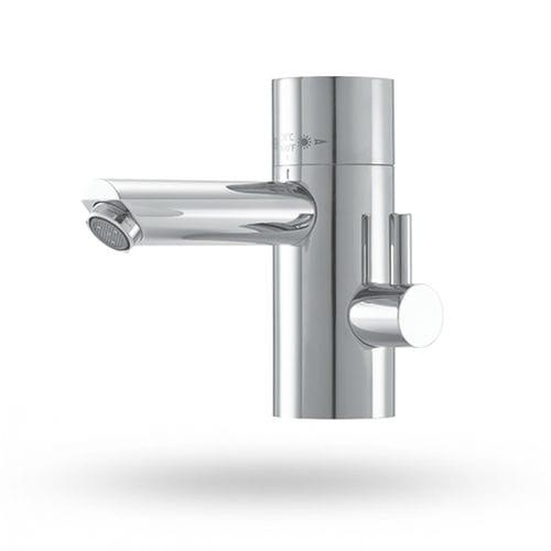 misturador monocomando para lavatório / em latão / termostático / 1 orifício
