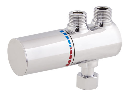 misturador monocomando para lavatório / de parede / em latão / termostático