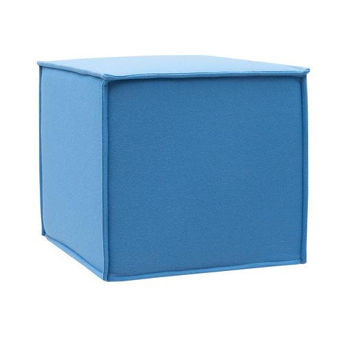 puff contemporâneo / em tecido / em espuma / quadrado