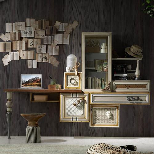 buffet de parede / design original / em madeira lacada / sob medida