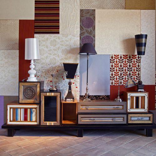 rack de TV contemporâneo / modular / sob medida / em madeira