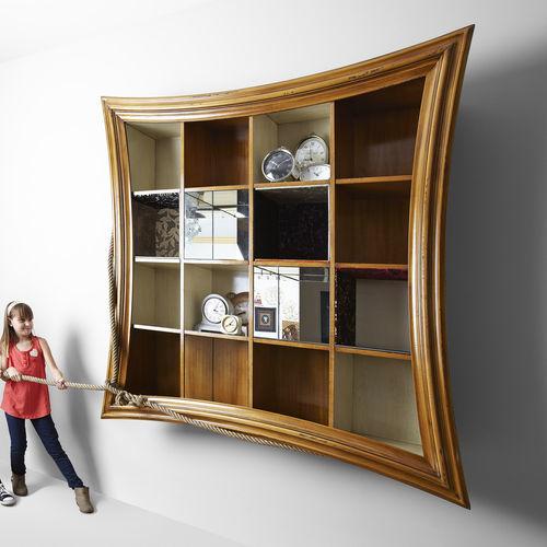 livreiro de parede / contemporâneo / em madeira / sob medida
