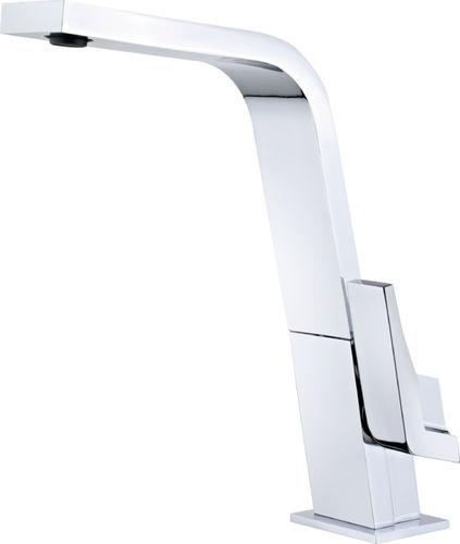 misturador monocomando metálico / para cozinha / 1 orifício / de bica orientável