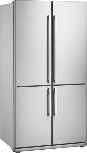 refrigerador combinado americano / em inox / com geladeira por baixo