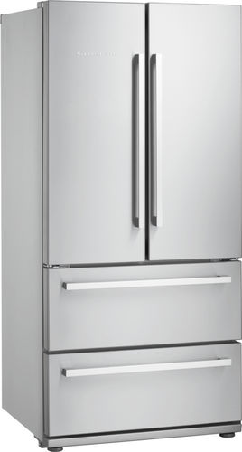 refrigerador combinado com gavetas / em inox / com geladeira por baixo
