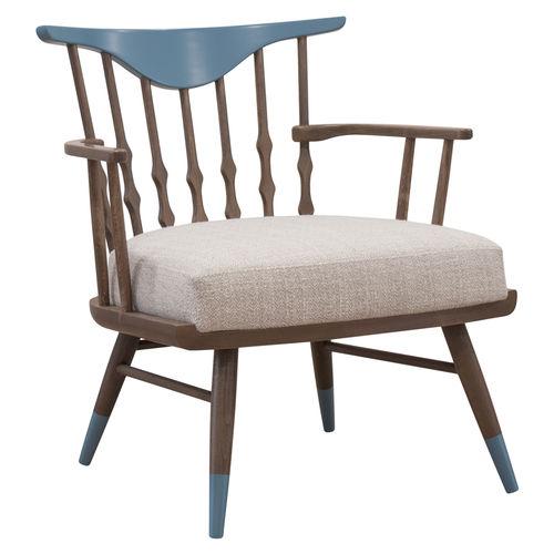 poltrona contemporânea / em tecido / em madeira / contract