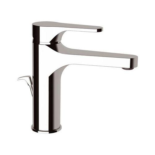 misturador monocomando para lavatório / em metal cromado / para ambiente interno / 1 orifício
