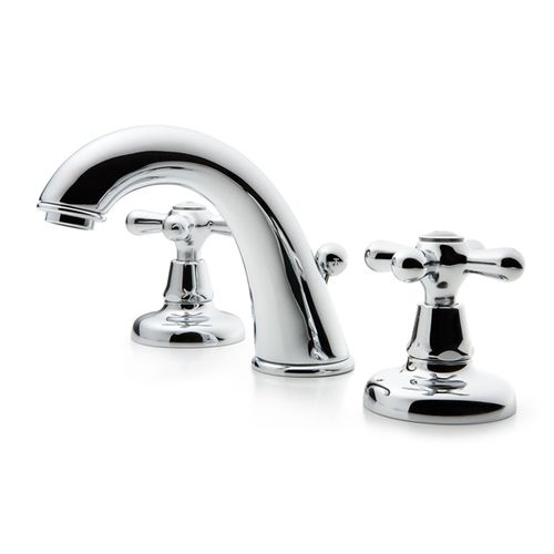 misturador bicomando para lavatório / de pousar / em latão / para banheiro