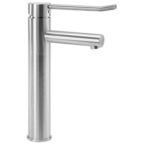 misturador monocomando para lavatório / em inox / para instalações sanitárias / 1 orifício