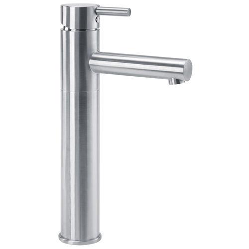 misturador monocomando para lavatório / em aço inox / para instalações sanitárias / 1 orifício