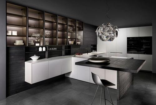 cozinha contemporânea / em Corian® / em inox / em madeira
