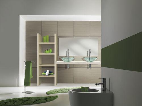 gabinete de banheiro suspenso / em madeira / contemporâneo