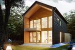 casa modular / contemporânea / em madeira / ecológica