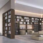 livreiro modular / de canto / piso-teto / contemporâneo