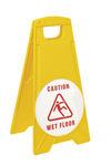 placa de sinalização de piso