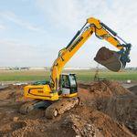 escavadeira de médio porte / de esteiras / de demolição / para construção civil
