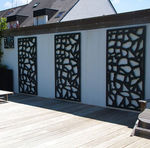 treliça de jardim para parede verde / em alumínio termolacado
