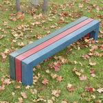 banco de jardim / de estilo / em plástico reciclado / de material reciclado