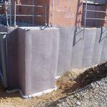 manta drenante em polipropileno / de proteção / de impermeabilização / para parede vertical enterrada