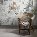 papel de parede contemporâneo / com padrão natureza / em cores / infantil