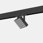luminária de trilho de LED / quadrada / metálica / para espaço comercial