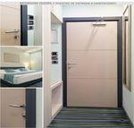 porta interna / de abrir / em alumínio / em aço inox