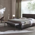 banco de pé de cama contemporâneo / em tecido / em madeira / residencial