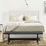 cabeceira para cama de casal / contemporânea / em tecido / estofada