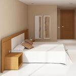 quarto de hotel contemporâneo