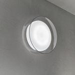 arandela contemporânea / em vidro soprado / de LED / redonda