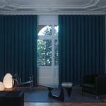 trilho para cortina de acionamento manual / para cortinas franzidas / da linha comercial / para residência
