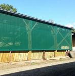 grelha de ventilação em tecido / retangular / para fachada / para sopragem e retorno do ar