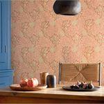 papel de parede contemporâneo / com padrão natureza / efeito de tecido / cinza
