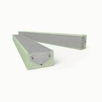 lintel isolante / em concreto / armado / pré-fabricado