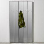 espelho de parede / contemporâneo / retangular / em alumínio lacado