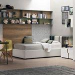 quarto infantil verde / cinza / em madeira lacada / unissexo