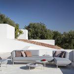 sofá modular / de canto / contemporâneo / de jardim